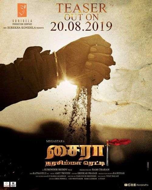 Sye Raa Narasimha Reddy Tamil Movie Posters 7