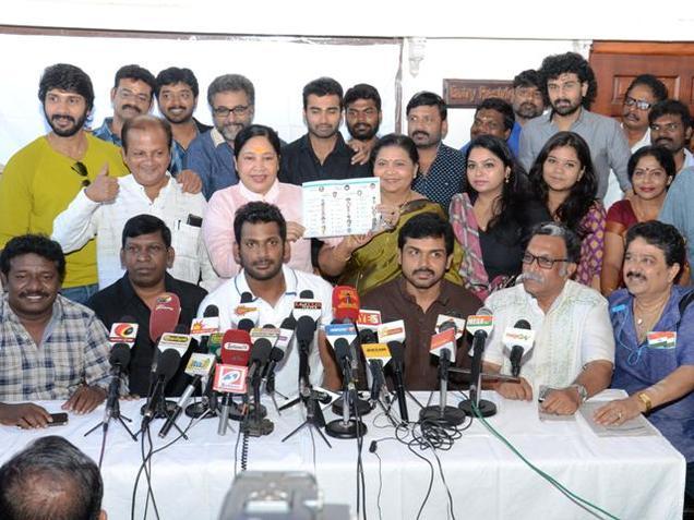 நடிகர் சங்கம் அவசர செய்தி - வீடியோ கவரேஜ் செய்ய வேண்டாம்