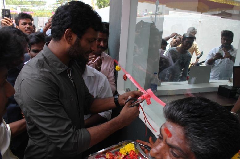 TFPC President Vishal Inaugurate Thiruvotriyur MSM Lemuria Cinema Theater