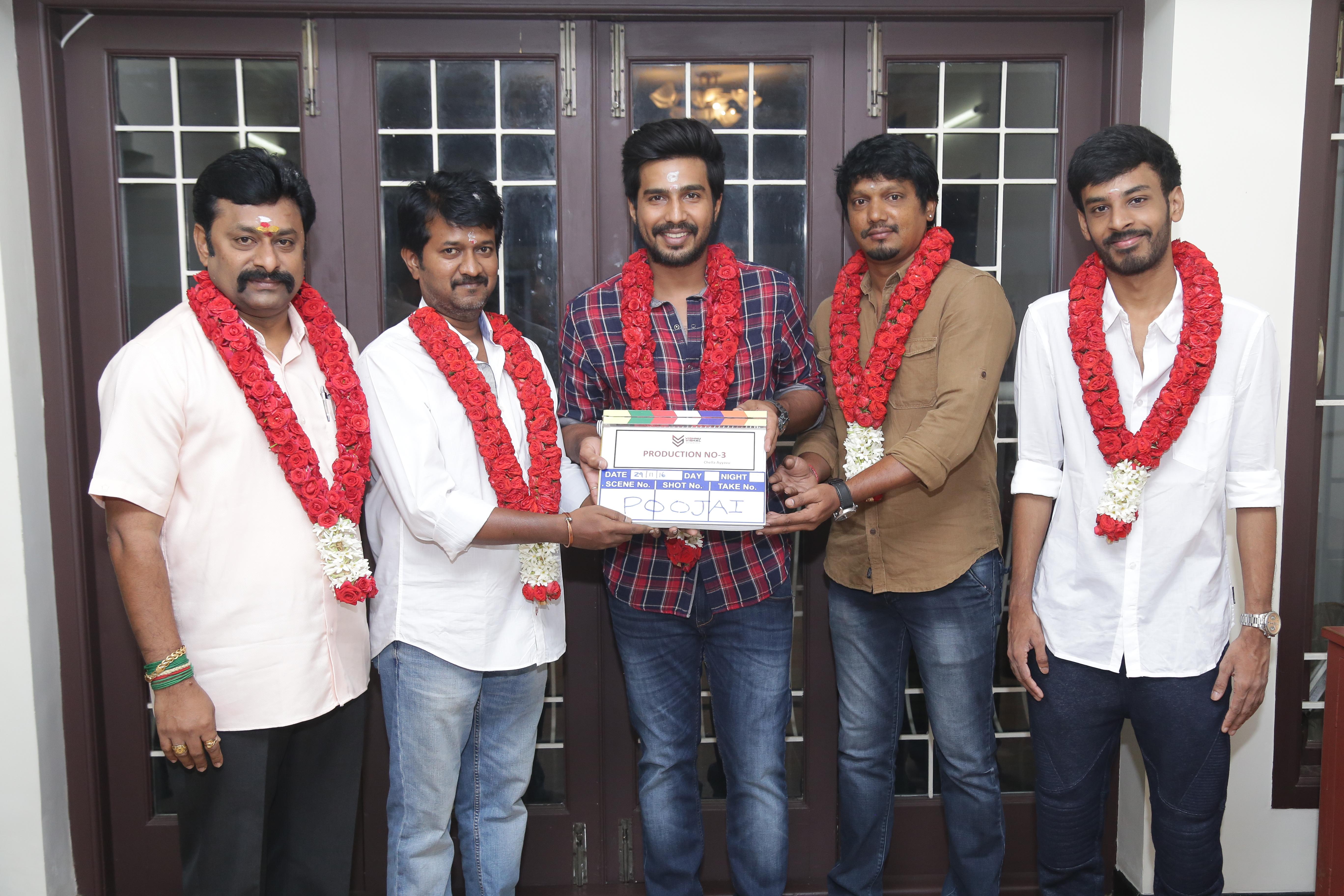 Vishnu Vishal Studioz Kick Started production No3