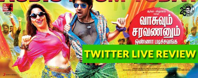 VSOP Live Audiance Movie Reviews : Twitter Review Vasuvum Saravananum Onna Padichavanga Movie